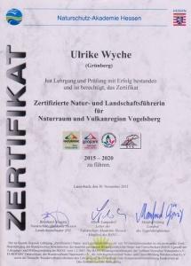 Naturpark-zertifikat